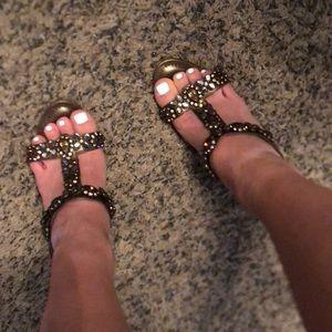 Manolo blahnik jewel heeled sandals